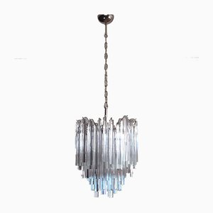 92 Transparent Murano Prism Chandelier, 1978
