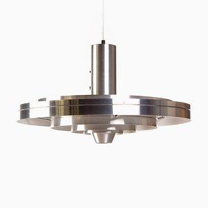 Lampada da soffitto vintage in alluminio di Johannes Hammerborg per Fog & Mørup, anni '60