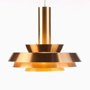 Lampada color rame di Lyskær Belysning, Danimarca, anni '60