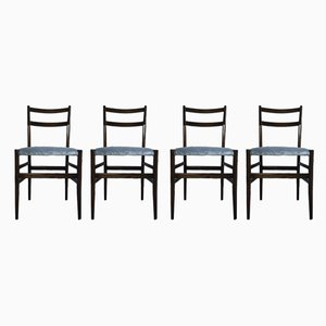 Blue Velvet 646 Light Dining Chairs by Gio Ponti for Cassina, 1950s, Set of 4