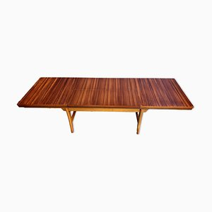 Extendable Walnut Coffee Table, 1950s
