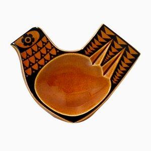 Mid-Century Keramikschale in Vogel-Optik von John Clappison für Hornsea