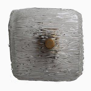 Moderne Wandleuchte aus Eisglas & Messing von J. T. Kalmar, 1960er