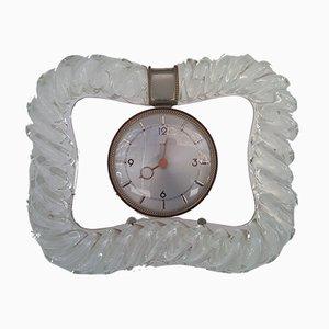 Horloge de Table Vintage par Latos pour Venini, 1950s