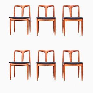 Chaises de Salle à Manger en Teck par Johannes Andersen pour Uldum Møbelfabrik, Danemark, 1960s, Set de 6