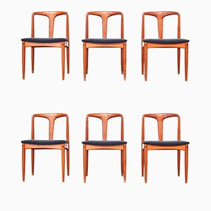 Danish Teak Dining Chairs by Johannes Andersen for Uldum Møbelfabrik, 1960s, Set of 6