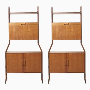 Italian Shelving Units, 1960s, Set of 2