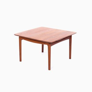 Tavolino da caffè in legno di teak massiccio di Finn Juhl per France & Søn / France & Daverkosen, anni '50
