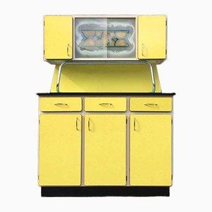 Bufet de formica amarilla de Molager, años 50