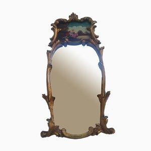 Specchio in stile antico con dipinto, anni '70