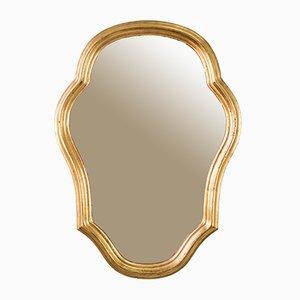 Spiegel mit goldenem Rahmen aus Holz, 1960er
