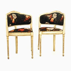 Vintage French Corner Chairs