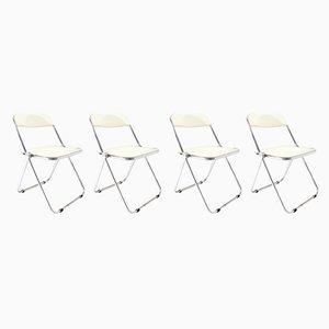 Esszimmerstühle aus Metall & Kunststoff von Giancarlo Piretti für Castelli / Anonima Castelli, 1960er, 4er Set