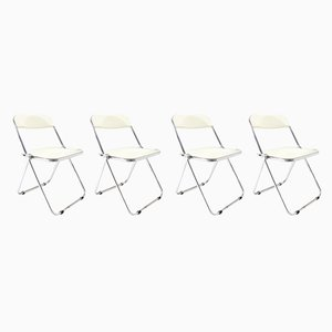 Rattan Dining Chairs by Giancarlo Piretti for Castelli / Anonima Castelli, 1960s, Set of 4