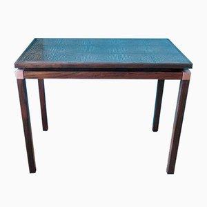 Tavolino da caffè in palissandro e ottone, anni '60