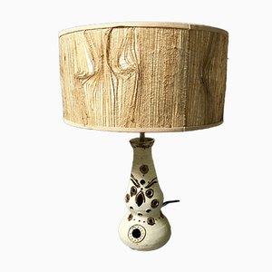Lámpara de mesa de cerámica, años 50