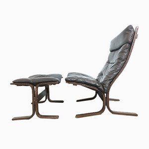 Siesta Armchair with Footstool by Ingmar Relling for Westnofa, 1960s