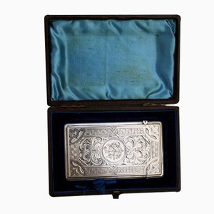 Antique Silver Card Case by Aidie & Lovekin for Adie & Lovekin, 1887