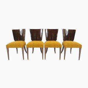 Sedie da pranzo Art Deco vintage di Jindřich Halabala per Thonet, set di 4