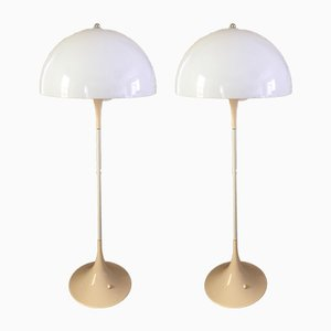 Vintage Panthella Floor Lamps by Verner Panton for Louis Poulsen, Set of 2