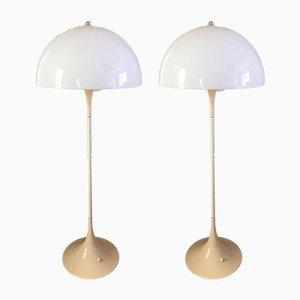 Vintage Panthella Stehlampen von Verner Panton für Louis Poulsen, 2er Set