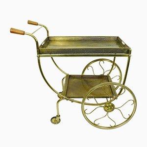 Teewagen aus Messing von Josef Frank für Svenskt Tenn, 1950er
