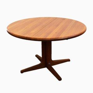 Danish Mid-.Century Modern Round Teak Dining Table from Glostrup, 1960s