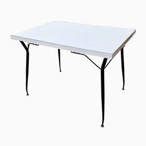Vintage Esstisch oder Küchentisch mit Tischplatte aus Resopal