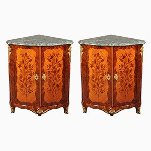 Antique Louis XV Rosewood Cabinets from Jean Lapie, Set of 2