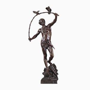 Sculpture Antique en Bronze par Auguste de Wever