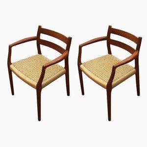 Esszimmerstühle von Niels Otto Møller für J.L. Møllers, 1960er, 2er Set