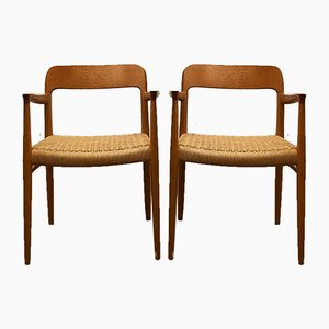 Danish Mid-Century Model 56 Chairs in Oak by Niels O. Møller for J.l. Møllers, Set of 2