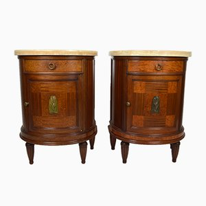 Art Deco French Mahogany Nightstands, 1920s, Set of 2