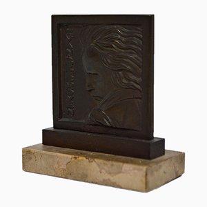 Beethoven Bronzeskulptur von Henri Dropsy für Henri Dropsy, 1920er