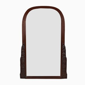 Art Deco French Mahogany Mirror by André Groult, 1920s
