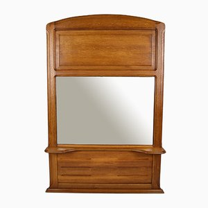 Antique Oak Mantel Mirror by Mathieu Gallerey