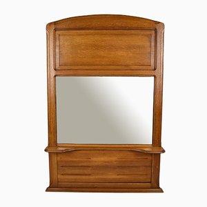 Espejo de repisa antiguo de roble de Mathieu Gallerey