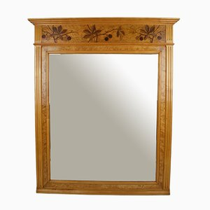 Antique French Inlaid Mantel Mirror
