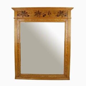 Antique French Inlaid Mantel Mirror