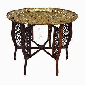 Tavolino da caffè antico intagliato, fine XIX secolo