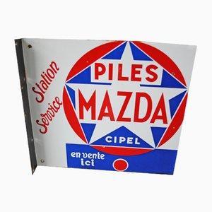 Doppelseitiges Tankstellenschild, 1950er