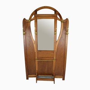 Mueble de recibidor o perchero modernista, década de 1900
