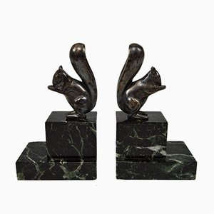 Art Deco Squirrel Bookends by Marcel Guillemard for Marcel Guillemard, 1930s, Set of 2