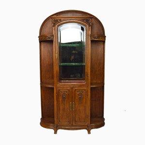 Mobiletto Art Nouveau in quercia, inizio XX secolo