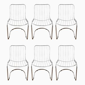 Vintage Italian Dining Chairs by Gastone Rinaldi, 1970s, Set of 7
