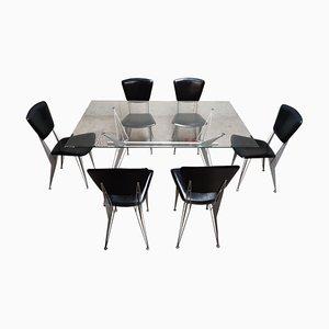 Mesa de comedor y sillas de Fasem Italy, años 90