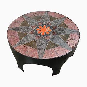 Tavolino da caffè brutalista in stile Pia Manu, anni '70