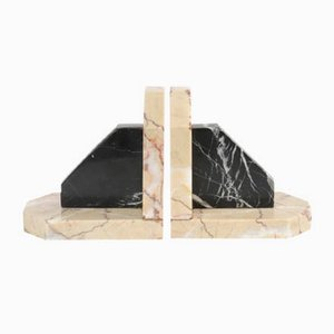 Vintage Marble Bookends, 1930s, Set of 2