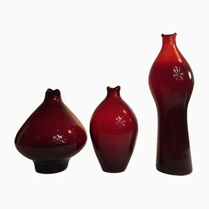 Vases Bouche de Poisson par Zbigniew Horbowy, 1960s, Set de 3