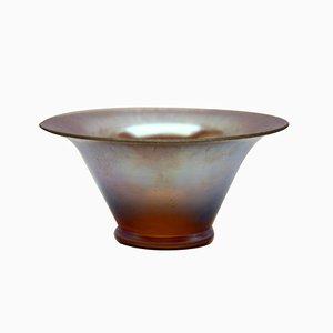 Schillernde Glasschale aus der Myra Serie von WMF, 1930er